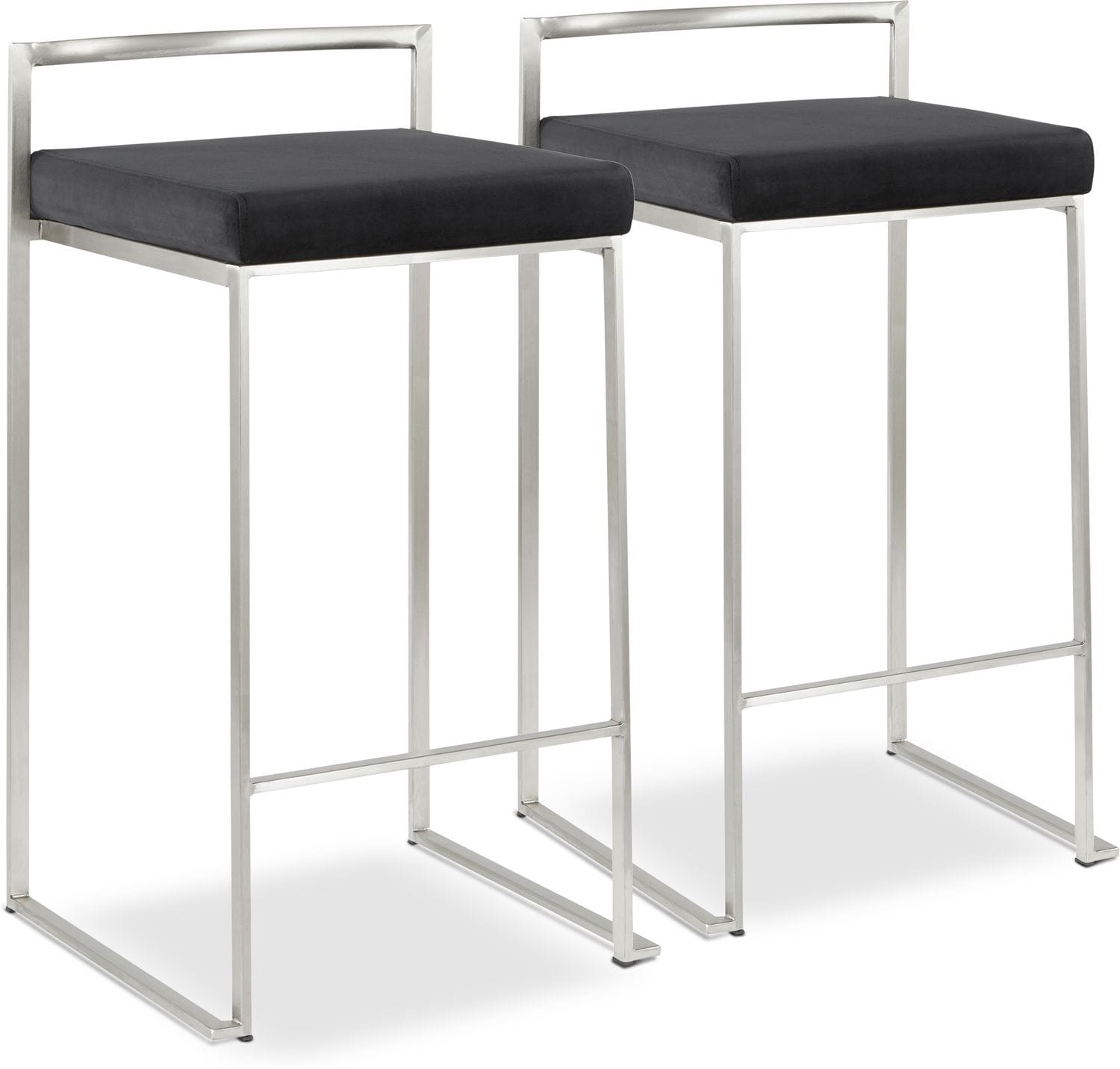Dining Room Furniture - City Set of 2 Counter-Height Stools