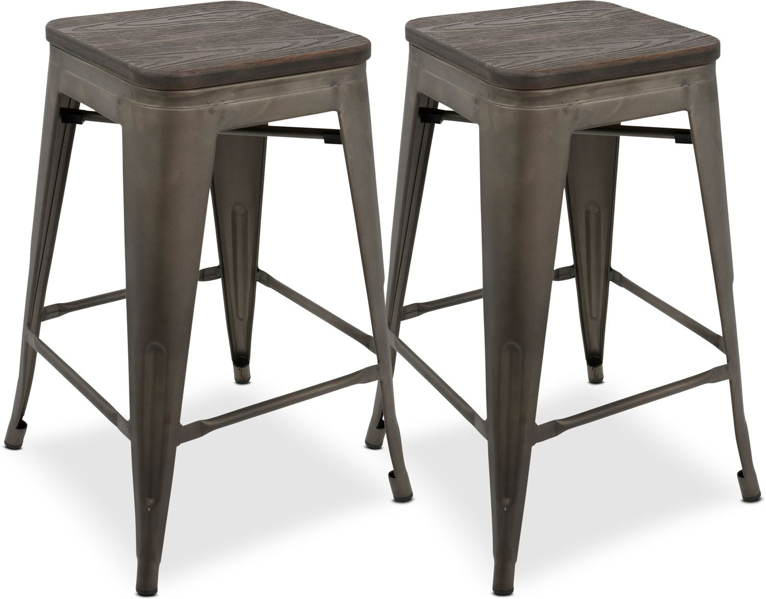 Dining Room Furniture - Dax Set of 2 Counter-Height Stools