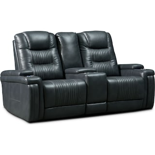 Magnus 3-Piece Triple-Power Reclining Sofa with Console - Gray