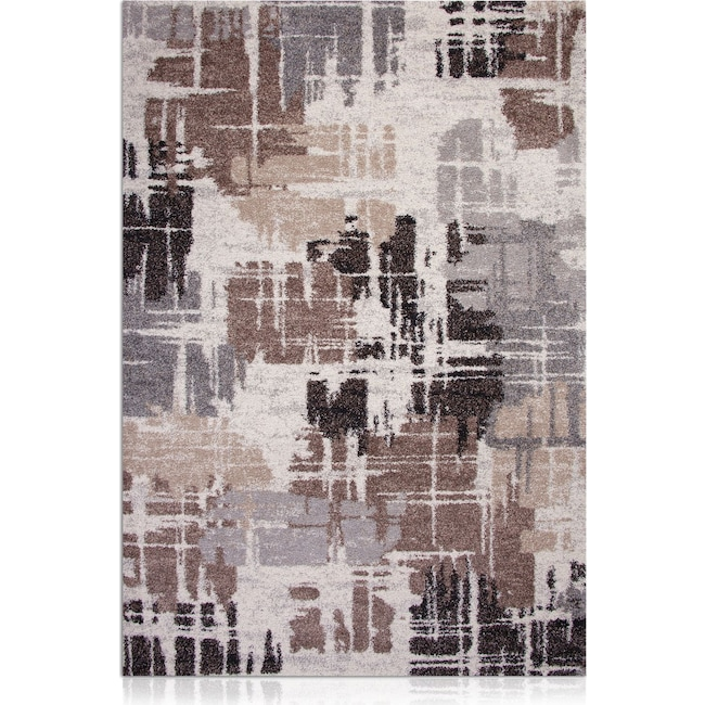 Rugs - Granada Area Rug - Brown and Gray