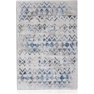 Granada 5' x 8' Area Rug - Blue Triangle