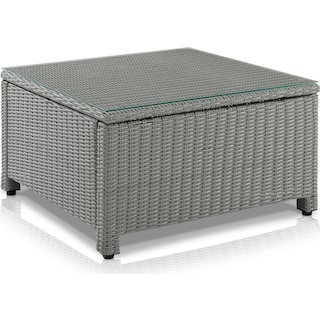 Destin Outdoor Square Coffee Table - Gray