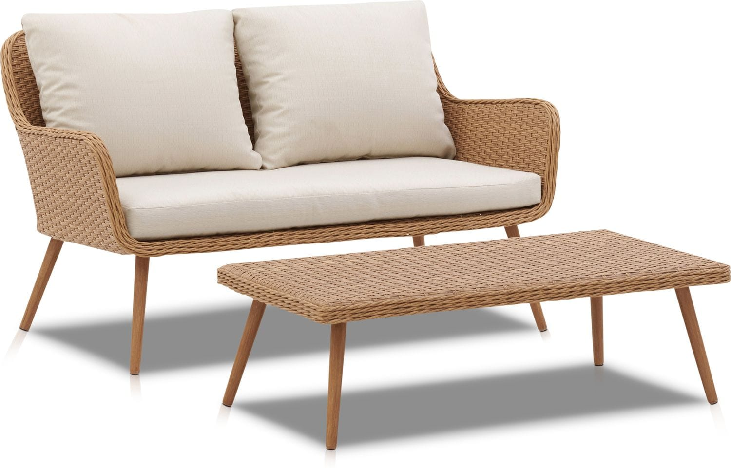 Outdoor Furniture - Delray Outdoor Loveseat and Coffee Table Set