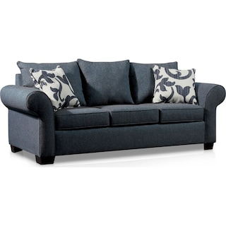 Calloway Sofa, Loveseat and Chair - Blue
