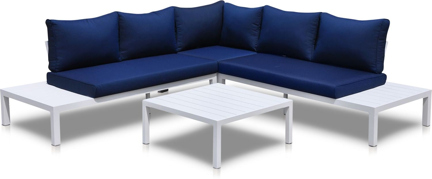 Outdoor Furniture - Wynwood Outdoor Sectional and Coffee Table Set