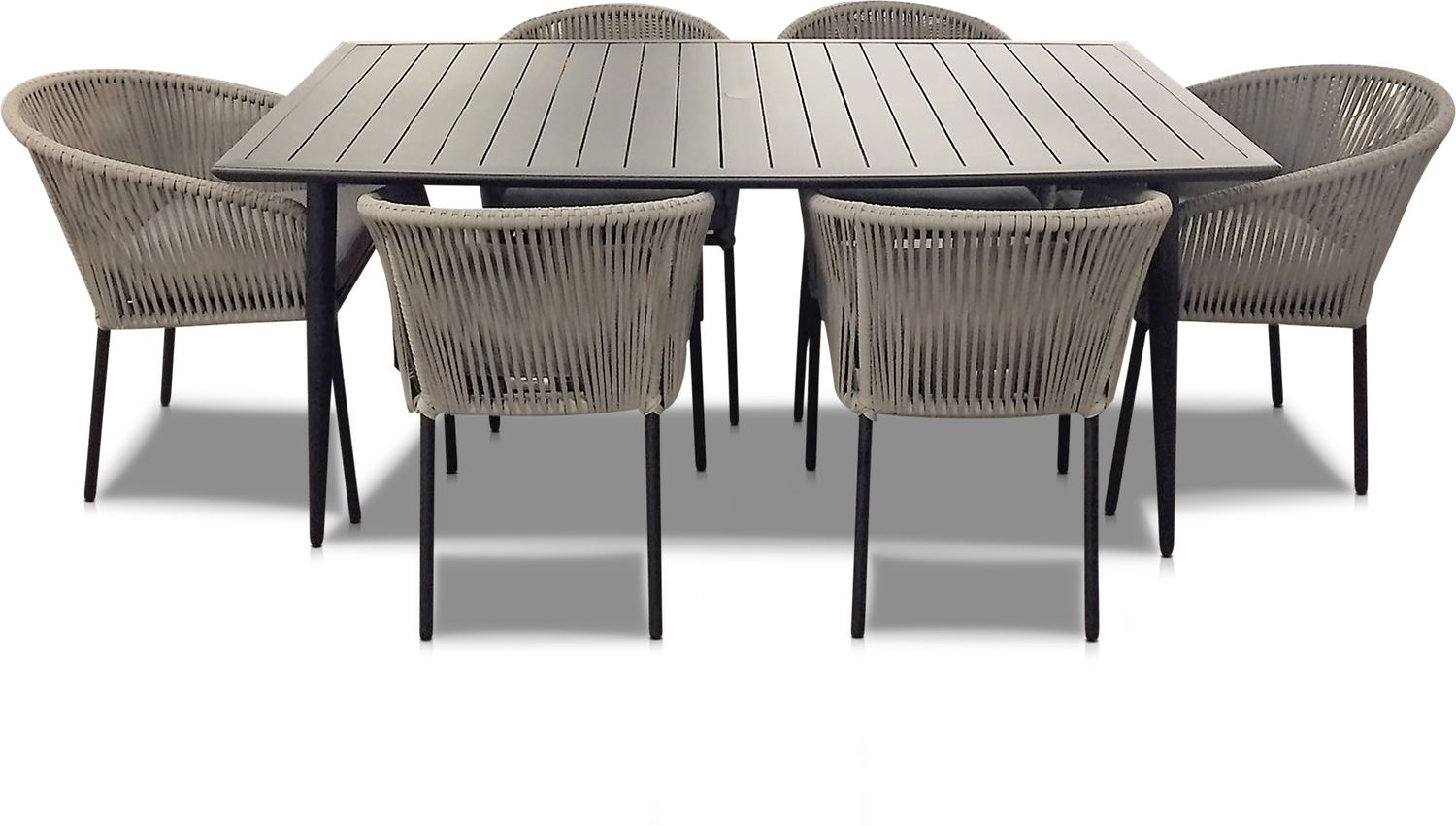 Outdoor Furniture - Paloma Outdoor Dining Table and 6 Chairs