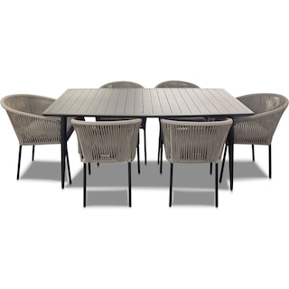 Paloma Outdoor Dining Table and 6 Chairs