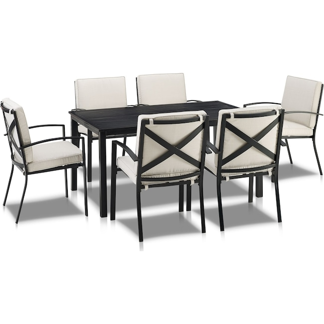 Outdoor Furniture - Clarion Outdoor Dining Table and 6 Dining Chairs