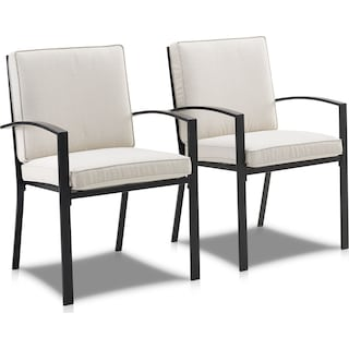 Clarion Set of 2 Outdoor Dining Chairs - Oatmeal