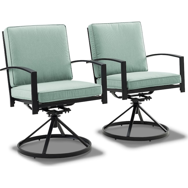 Outdoor Furniture - Clarion Set of 2 Outdoor Swivel Chairs