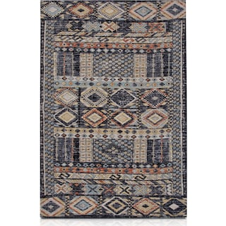 Palms Indoor/Outdoor Area Rug - Blue Multi