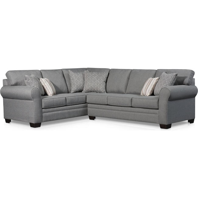 Living Room Furniture - Camila 2-Piece Sectional
