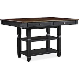 Glendale Kitchen Island, 4 Stools and Bench