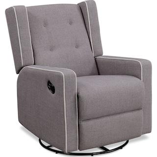 Adeline Manual Reclining Swivel Chair - Light Gray