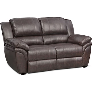 Aldo Stationary Loveseat - Brown