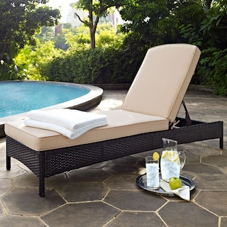 Aldo Outdoor Chaise Lounge - Brown