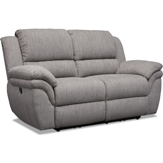 Aldo Manual Reclining Loveseat - Gray