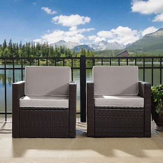Aldo Set of 2 Outdoor Chairs and End Table Set