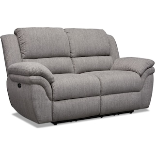 Aldo Power Reclining Loveseat - Gray