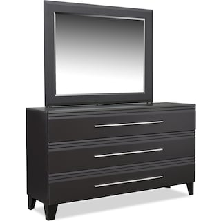 Allori Dresser and Mirror - Black