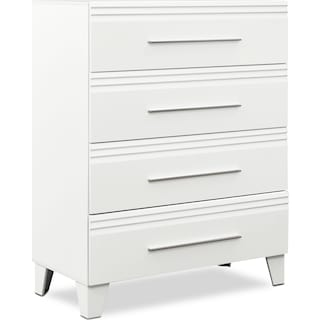 Allori 4-Drawer Chest - White