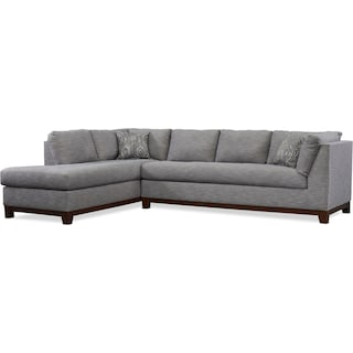Anderson 2-Piece Sectional with Left-Facing Chaise - Gray