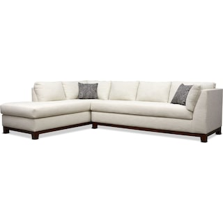 Anderson 2-Piece Sectional with Left-Facing Chaise - Ivory