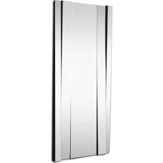 Angled Panel Floor Mirror