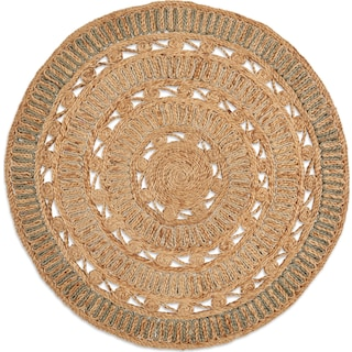 Anson Round Area Rug - Natural