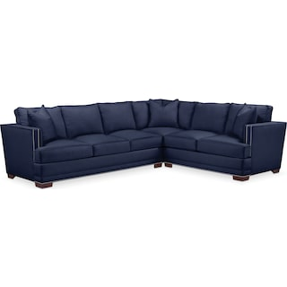 Arden Comfort 2-Piece Large Sectional with Left-Facing Sofa - Oakley III Ink