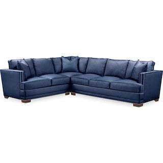 Arden Comfort 2-Piece Large Sectional with Right-Facing Sofa - Abington TW Indigo