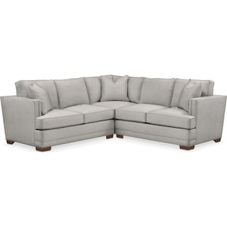 Arden Comfort 2-Piece Small Sectional with Left-Facing Loveseat - Dudley Gray