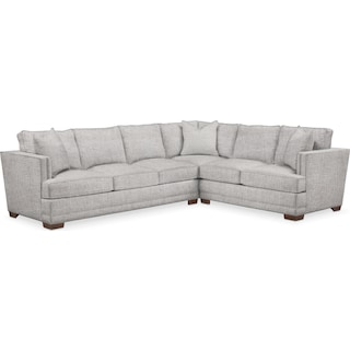 Arden Comfort 2-Piece Large Sectional with Left-Facing Sofa - Everton Gray