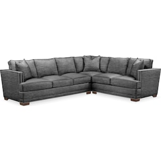 Arden Cumulus 2-Piece Large Sectional with Left-Facing Sofa - Curious Charcoal