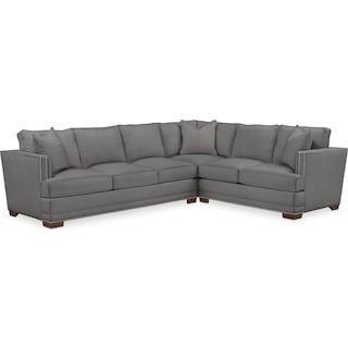 Arden Cumulus 2-Piece Large Sectional with Left-Facing Sofa - Hugo Graphite