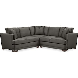 Arden Comfort 2-Piece Small Sectional with Right-Facing Loveseat - Sterling