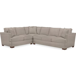 Arden Cumulus 2-Piece Large Sectional with Right-Facing Sofa - Weddington Cement