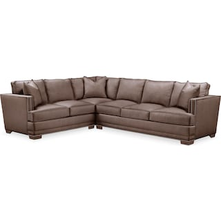 Arden Comfort 2-Piece Large Sectional with Right-Facing Sofa - Oakley III Java