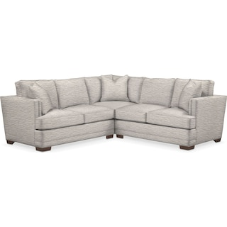 Arden Comfort 2-Piece Small Sectional with Left-Facing Loveseat - Living Large White