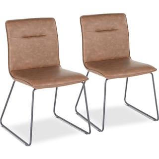 Ari Set of 2 Dining Chairs - Brown