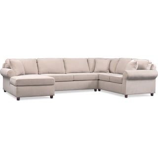Ashton 3-Piece Sectional with Left-Facing Chaise - Ivory