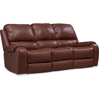 Austin Dual-Power Reclining Sofa - Brown