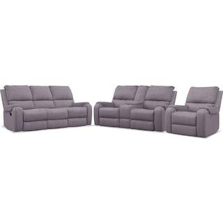 Austin Manual Reclining Sofa, Loveseat and Recliner - Gray
