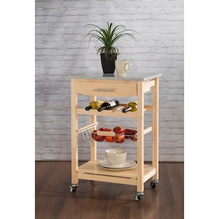 Avon Granite Kitchen Cart - Natural