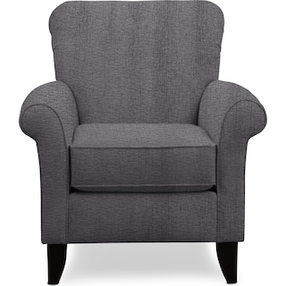 Kingston Accent Chair - Living Large Charcoal