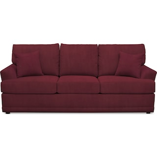 Berkeley Sofa - Modern Velvet Wine