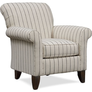 Kingston Accent Chair - Evie Charcoal