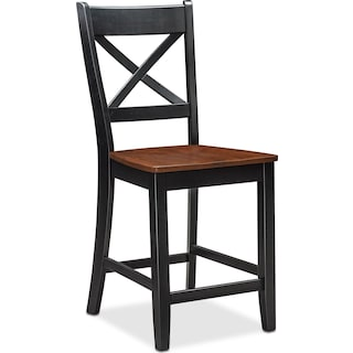 Nantucket Counter-Height Dining Chair - Black and Cherry