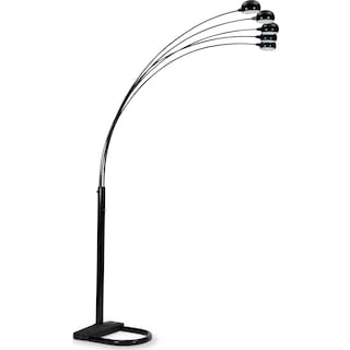 Black Arc Floor Lamp