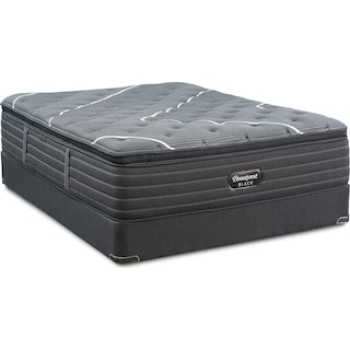 BRB C-Class Plush Pillow Top Full Mattress and Low-Profile Foundation